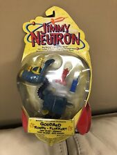 Mattel 2001 Rare Jimmy Neutron Goddard,Robbie Flokkert Sky Cycle Action Figure