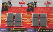 4 PASTILLAS DE FRENO DELANTERO SBS 634 RS RACING SINTER YAMAHA MT07 MT 07 ABS