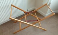 Mamas & Papas  pine folding   Moses Basket Stand  good condition used