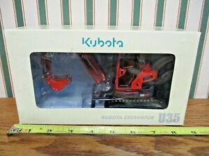 Kubota U35 Zero Tail Swing Excavator 1/24th Scale