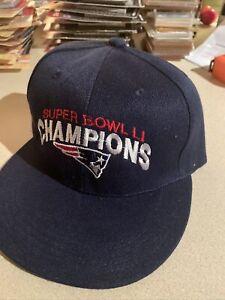 New England Patriots SUPER BOWL CHAMPIONS LI Navy HAT/CAP Snapback