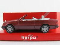 Herpa 031127 Mercedes-Benz 300 CE Cabrio (1991) in almandinrot 1:87/H0 NEU/OVP