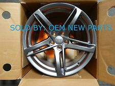 Audi A5 Aluminum Alloy OEM Wheel Rim 18 x 8.5 Gunmetal Stock 8T0071498A Z49 NEW