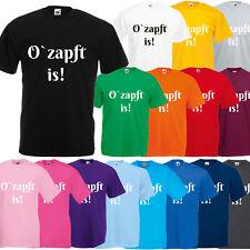 Oktoberfest T-Shirt Unisex mit Motiv -  O`zapft is! - Tracht Frauen & Männer