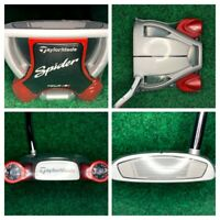 "NEW TAYLORMADE SPIDER TOUR PLATINUM PUTTER 34"" SUPER STROKE PISTOL GRIP W/ HC"