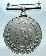 1947 PAKISTAN UK King George VI INDEPENDENCE India Genuine Antique Medal i78397