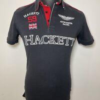 Aston Martin Racing HACKETT Grey & Black Youth Or Womens Polo T Shirt Top L