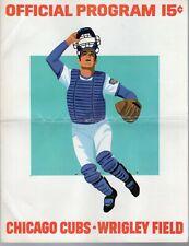 1973 (Aug. 18) Baseball program Los Angeles Dodgers @ Chicago Cubs, scored ~Fair