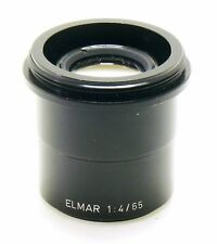 Leica 65mm f/3.4 Elmar lens, rare un-numbered prototype of 65mm f/3.5 EXC++