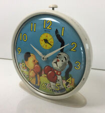More details for lovely vintage smiths animated boxing sooty & sweep alarm clock c1960 60s