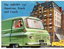 Austin 152 1960-61 UK Market Sales Brochure Van Pick-Up Minibus
