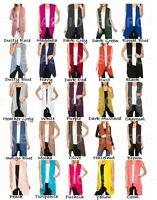 Womens Open Vest Tunic Top Shawl Collar Draped Sleeveless Cardigan S M L XL 2019