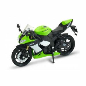 WELLY 12809 Kawasaki Ninja ZX-10R Green Scale 1:18 Model Motorcycle New !°