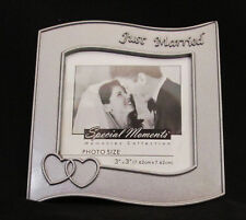 Just Married Special Moments Memories Collection Metal Free Standing Frame