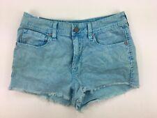 Roxy 5 Blue Corduroy Cords Cut Off Shorts Distressed Cotton Blend