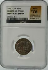 "2005 D SPEARED BISON 5C VP-001 NGC MS65 RANKS #76 ""100 GREATEST US MODERN COINS"""