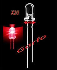 20X Diodo LED 5x9 mm Rojo 2 Pin alta luminosidad