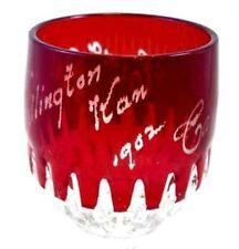 Antique Ruby Glass  Goblet Souvenir  Wellington  Kansas 1902