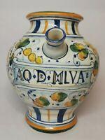 Pot pharmacie/apothicaire Pichet AQ D e MALVAE H 20,5 Cm Vintage, déco