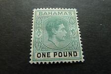 BAHAMAS  1938 Definitive  £1  SG 157a   mint