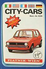 Quartett - City-Cars + Führerschein - Piatnik Nr. 4225 - 1974 - Auto Kartenspiel