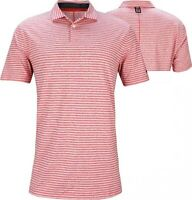 New Nike TW Tiger Woods Red White Striped Golf Polo Men's Size XXL BQ6722-687