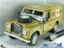 LAND ROVER SERIES 3 MODEL CAR ARMY MILITARY AMBULANCE 1:43 SIZE CARARAMA T3