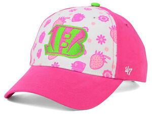 Cincinnati Bengals 47 Brand Girls NFL Pink Strawberry cap hat ages 8 to 14