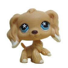 Littlest Pet Shop LPS Figure Toys Tan Cocker Spaniel # 748 Flower Star Eyes Dog
