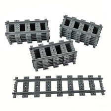 18X Straight train tracks Railroad Non-Powered Railway Compatible With LEGO