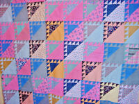 ANTIQUE FLYING GEESE QUILT TOP 1930S QUILT TOPPER TABLE COVER