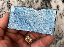 Rare Covellite Slab Deep Purplish-Blue Iridescent Metallic For Cabs 98gm 1144-U
