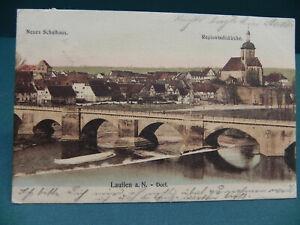 AK kolorierte Ansichtskarte von Lauffen am Neckar 1907 gelaufen