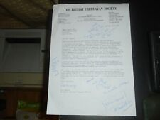 1989 WW2 Battle of River Plate, British Uruguayan Society Letter re Exhibition