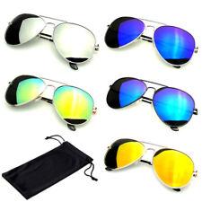Polarized Sunglasses Women Men Case Vintage Sports Driving Mirrored