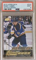 2015 2016 UPPER DECK Robby Fabbri YOUNG GUNS EXCLUSIVES RC ROOKIE PSA 9 #036/100