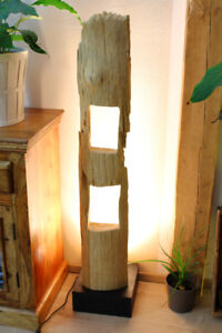 Driftwood Floor Lamp LED 47 3/16in Wood Lamp Light Large Natural Real Wood
