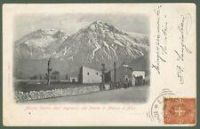 MASSA D'ALBE, Aquila. Ingresso del paese. Cartolina d'epoca viaggiata nel 1901