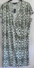 NWT Plus Size 3X Jones New York Green Flutter-Sleeve Dress 22W/24W 3XL Orig. $94