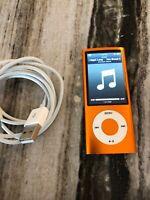 Apple iPod nano 5th Generation Orange (16 GB) Near LCD New Battery Nice!