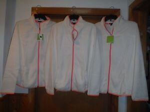 GAP Long Sleeve Full Zip Mock Neck Fleece Sweatshirts 2XL,LG,Ivory Frost Orange