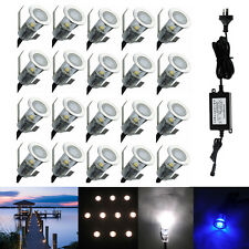 20X Low Voltage 19mm Outdoor Yard Patio Landscape Lighting LED Deck Stair Lights