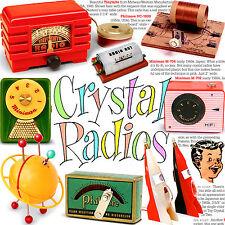 Jet age TOY CRYSTAL RADIOS book - Rocket Space Retro mid-century vintage antique