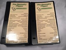 Lot of 27 Pre-Geometry Flippers Fllp Charts Christopher Lee Publications New