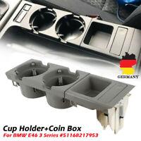 Grau Mittelkonsole Getränkehalter Aufbewahrungsbox Ablagefach Für BMW E46 3er