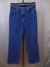 Calvin Klein Women's Relaxed Boot Cut Light Wash Jeans Size 12 Cotton #1593