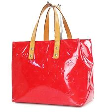 Authentic LOUIS VUITTON Reade PM Red Vernis Leather Tote Hand Bag Purse #36528