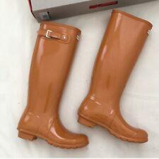 NIB Hunter Original Tall Gloss Marigold Rain Boots  Sz US  6, Euro 37