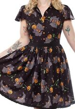 sourpuss Halloween cat dress with pockets pinup ntw small