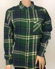 Fenchurch Ladies Dark Green Slogan Check Shirt Size S. BNWT